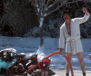 I need to hop on the hunt for a super short bathrobe for my husband to really pull this off this summer.